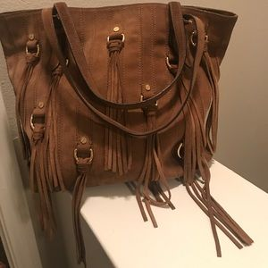 Michael Kors large brown suede handbag